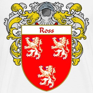 Ross Coat of Arms/Family Crest - Men's Premium T-Shirt