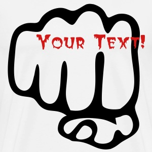 Fist with your Text - Men's Premium T-Shirt