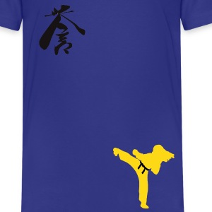 Meaning of Martial Arts: It means honor girls shirt in royal blue - Kids' Premium T-Shirt