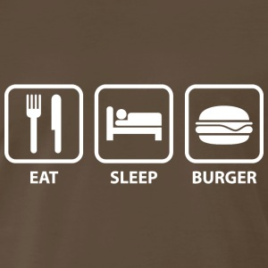 Eat Sleep Burger - Men's Premium T-Shirt