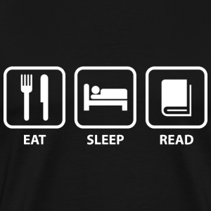 Eat Sleep Read - Men's Premium T-Shirt