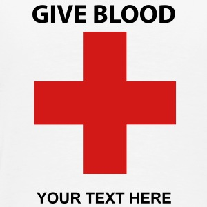 Custom Give Blood Shirt Add your Text  - Men's Premium T-Shirt