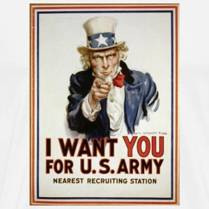 US Army Veteran Poster T-Shirt - Men's Premium T-Shirt