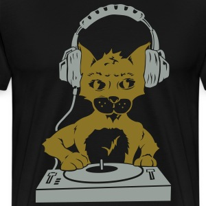 Cat Scratching (Gold and Silver Edition) - Men's Premium T-Shirt