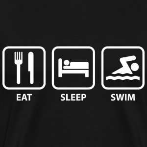 Eat Sleep Swim - Men's Premium T-Shirt