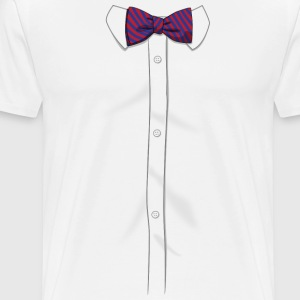 Bow Tie Shirt - Men's Premium T-Shirt