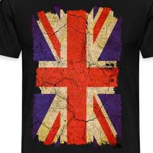 Grunge Union Jack UK Flag T-Shirts - Men's Premium T-Shirt