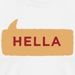 Hella Shirt Gold Maroon - Men's Premium T-Shirt