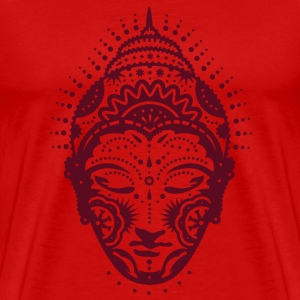 Buddha head decorated with ornaments  T-Shirts - Men's Premium T-Shirt