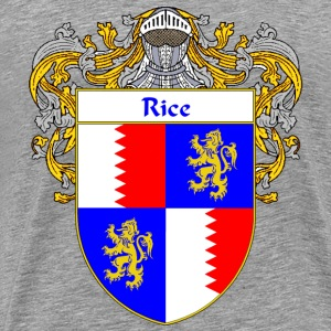 Rice Coat of Arms/Family Crest - Men's Premium T-Shirt