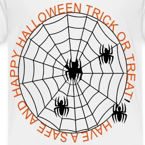 safe_and_happy_trick_or_treat_spiders2 Baby & Toddler Shirts - Toddler Premium T-Shirt