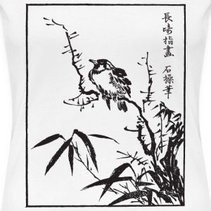 Japanese Bird Art Women's T-Shirts - Women's Premium T-Shirt