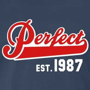 Perfect EST. 1987 Birthday Design T-Shirt - Men's Premium T-Shirt
