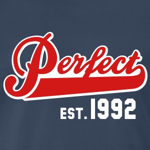 Perfect EST. 1992 Birthday Design T-Shirt - Men's Premium T-Shirt
