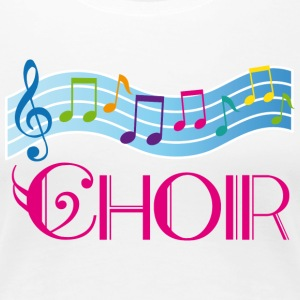 Choir Colorful Music Staff Women's T-Shirts - Women's Premium T-Shirt