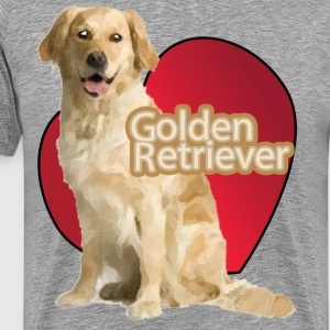 Love A Golden Retriever - Men's Premium T-Shirt
