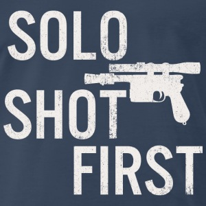 Solo Shot First T-Shirts - Men's Premium T-Shirt