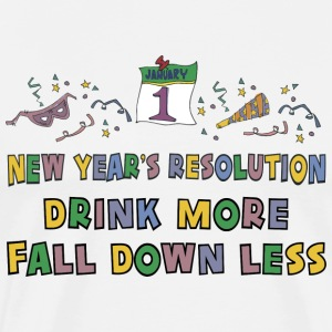 Funny New Year's Resolution T-Shirt - Men's Premium T-Shirt