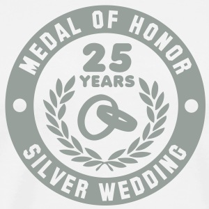 MEDAL OF HONOR 25th SILVER WEDDING T-Shirt - Men's Premium T-Shirt