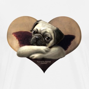 Cherub Pug Angel - Men's Premium T-Shirt