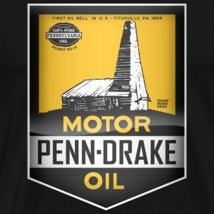 Penn  Motor Oil  vintage sign - Men's Premium T-Shirt