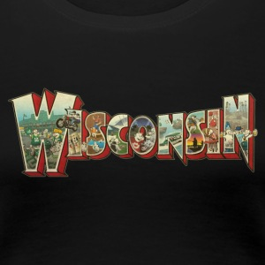 GREETINGS FROM WISCONSIN Women's T-Shirts - Women's Premium T-Shirt