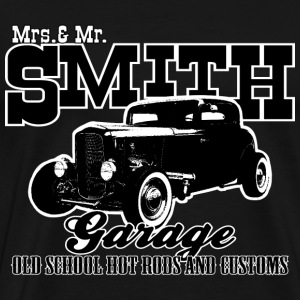 Mrs.& Mr. Smith Hot-Rod Garage - Men's Premium T-Shirt