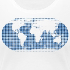 world map globe t-shirt women - Women's Premium T-Shirt