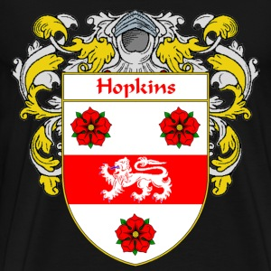 Hopkins Coat of Arms/Family Crest - Men's Premium T-Shirt