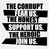 Design ~ The heroic join us (navy) mens tee