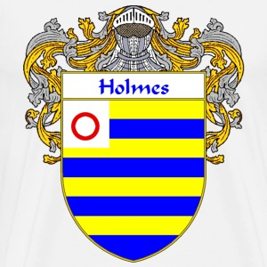 Holmes Coat of Arms/Family Crest - Men's Premium T-Shirt