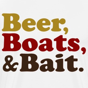 Beer Boats and Bait Fishing T-Shirts - Men's Premium T-Shirt