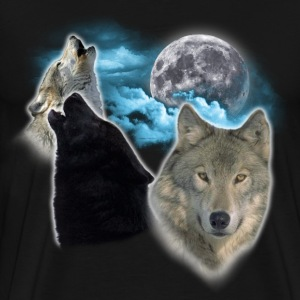 Wolves Moon 3 T-Shirts - Men's Premium T-Shirt