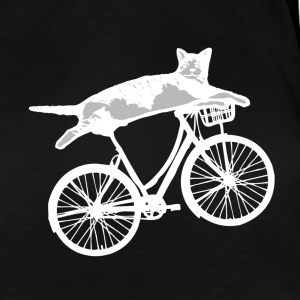 Reclining Cat Biker - Women's Premium T-Shirt
