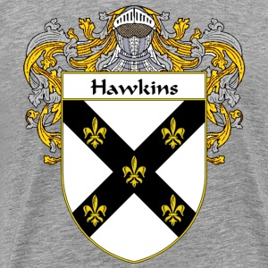 Hawkins Coat of Arms/Family Crest - Men's Premium T-Shirt