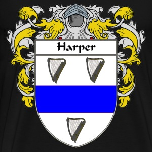 Harper Coat of Arms/Family Crest - Men's Premium T-Shirt