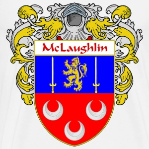 McLaughlin Coat of Arms/Family Crest - Men's Premium T-Shirt