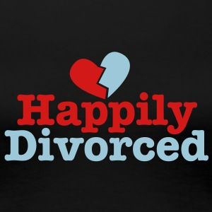 happily divorced with broken love heart Women's T-Shirts - Women's Premium T-Shirt