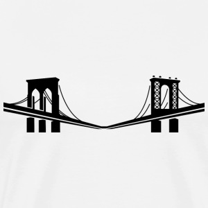 New York Bridge Logo Shirt - Men's Premium T-Shirt