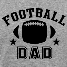 FOOTBALL DAD STAR DESIGN T-Shirt BH