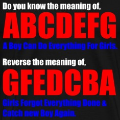 The Meaning of abcdefg T-Shirts