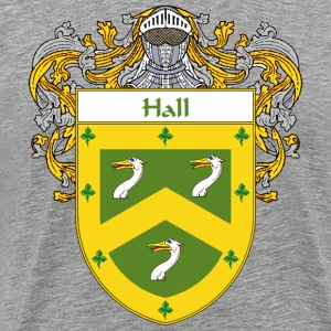 Hall Coat of Arms/Family Crest - Men's Premium T-Shirt