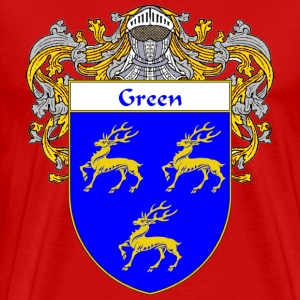 Green Coat of Arms/Family Crest - Men's Premium T-Shirt