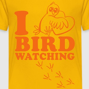 I Love Bird Watching Kids' Shirts - Kids' Premium T-Shirt