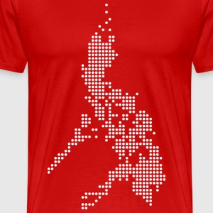 Philippines Digital Map Tee Shirt by AiReal  - Men's Premium T-Shirt