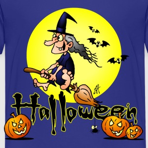 Halloween, witch on a broom, bats and pumpkins Baby & Toddler Shirts - Toddler Premium T-Shirt