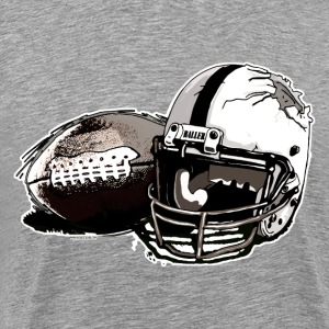 Shattered Helmet Pigskin - Men's Premium T-Shirt