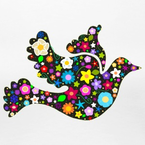 Floral bird of peace - Women's Premium T-Shirt