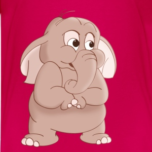 Elephant Cartoon T-Shirt - Kids' Premium T-Shirt