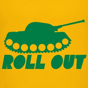 Military ROLL out funny tank commander design  Kids' Shirts - Kids' Premium T-Shirt